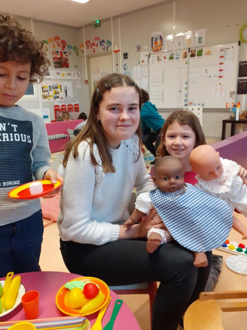 Emelyne a passé une semaine dans la classe des GS / CP …